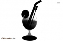 Cocktail Drink Silhouette Image And Vector