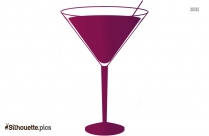 Cocktail Drink Silhouette Picture Vector