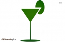 Cocktail Emoji Silhouette Art, Free Cocktail Drink Image For Download