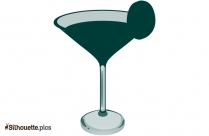Cocktail Glass Silhouette Drawing