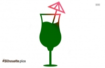 Cocktail Glass Silhouette Clip Art