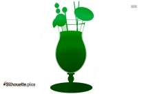 Cocktail Glass Silhouette Clipart