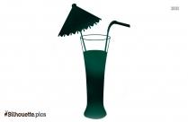 Free Margarita Glass Silhouette