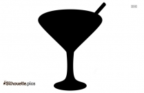 Cocktail Glass Symbol Silhouette