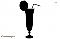 Cocktail Glass With Lemon Silhouette