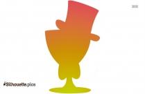 Martini Glass Silhouette Clipart