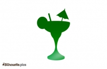 Cocktail Glass Silhouette Art Vector
