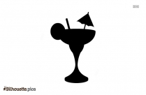 Cocktail Drink Silhouette Image Vector