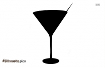 Cocktail Drinks Icons Vector Silhouette