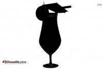 Cocktail Tropical Drink Clipart Silhouette Image