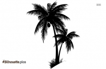Palm Tree Vector Silhouette Drawing