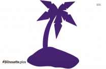 Coconut Tree Silhouette Drawing