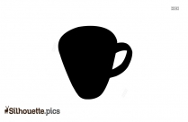 Coffee Cup Silhouette Steaming