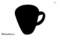 Coffee Cup Silhouette Clipart, Vector Art