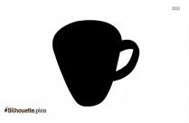 Coffee Cup Silhouette Stencil