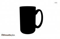 Coffee Cup Silhouette Lid Clipart
