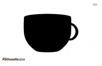 Cup And Straw Symbol Silhouette