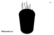 Coffee Cup With Steam Silhouette Background
