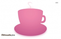 Coffee Cup With Steam Silhouette Illustration