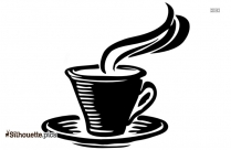 Coffee Cup With Steam Silhouette Vector