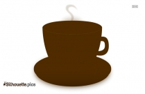 Happy Coffee Cup Silhouette