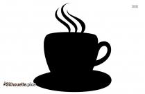 Black And White Coffee Mug Silhouette