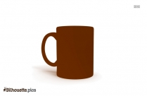 Coffee Mug Silhouette Illustration, Clipart