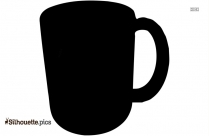 Coffee Cup Silhouette Clipart Vector Image