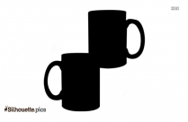 Coffee Mugs Vector Silhouette