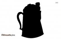 Spoon Silhouette Art, Black Kitchen Utensil Image