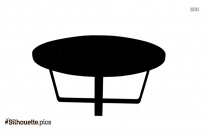 Wood Kitchen Table Silhouette