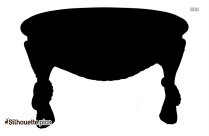 Kitchen Table Silhouette Vector
