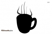 Coffee With Steam Silhouette