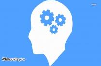Cog Brain Clipart || Mind Gears Silhouette