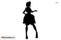 Cartoon Girl Silhouette Clipart