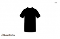 Collarless T Shirt Silhouette Clipart