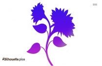 Sunflower Flower Design Silhouette