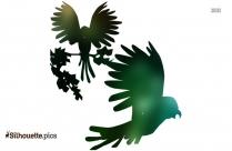 Colorful Birds Cartoon Silhouette Clip Art