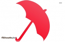 Colorful Cartoon Umbrella Silhouette Vector And Graphics