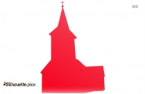Colorful Church Silhouette Image