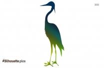 Crane Symbol Silhouette