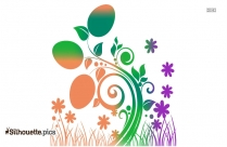 Colorful Easter Egg Border Clipart Picture