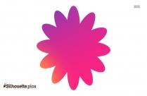 Flower Border Clipart Silhouette