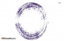 Colorful Grunge Circle Brush Stroke Silhouette