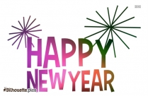 Silhouette Of New Year Font