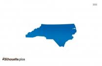Colorful North Carolina Map Silhouette