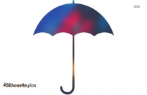 Colorful Umbrella Clip Art, Silhouette