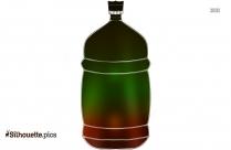 Cool Water Bottle Silhouette