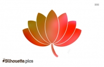 Single Flower Lotus Silhouette