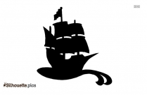 Frigate Silhouette Drawing